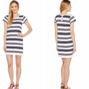 JOIE Navy and White Striped Dress